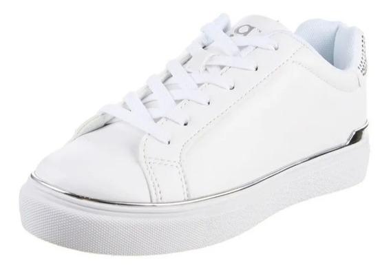 Zapato Zapatilla Mujer Blanca Sneaker Plataforma Moda Urbana