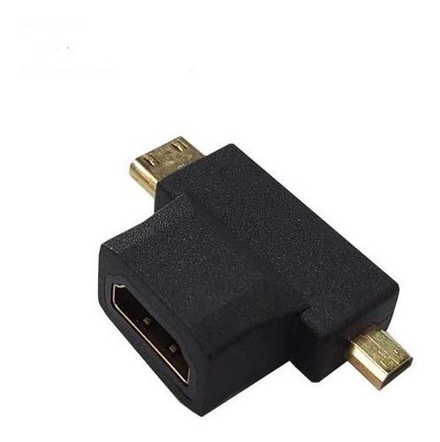 Imagen 1 de 3 de Adaptador Mini / Micro Hdmi 1080p Macho A Hdmi Hembra Ulink