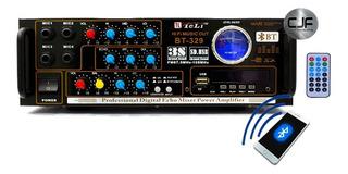 Amplificador Spe 2e Mic Usb Sd Rca Fm Karaoke 12v -220v Cjf