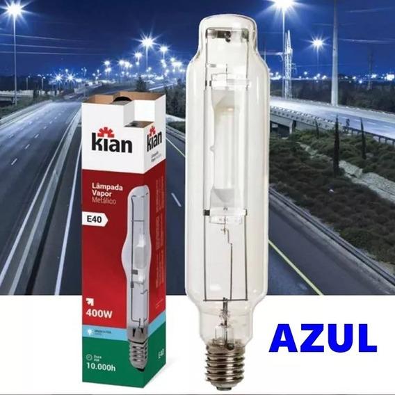 Lampada Vapor Metálico 400w Tubolar Azul E40 - Kian