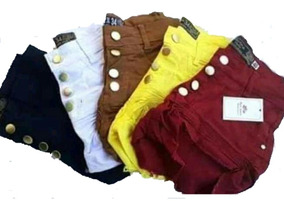 Shorts Hot Pants Coloridos E Jeans Do 34 Ao 44