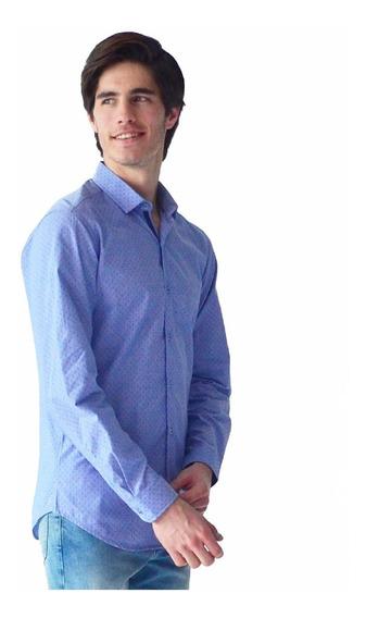 Camisa Casual Vestir Hombre Manga Larga Algodón Rack & Pack