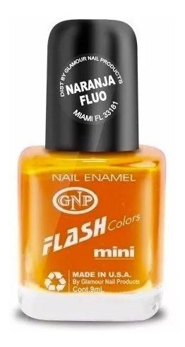 Imagen 1 de 4 de Esmalte Flash Colors De Gnp 9ml Anaranjado Fluo Summer