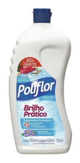 Cera Líquida Poliflor 750ml Brilho Pratico C/30% Desconto