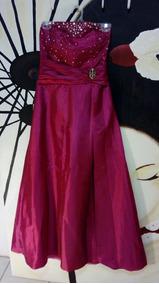 Vestido Casuales De Fiesta Color Fucsia Rosa
