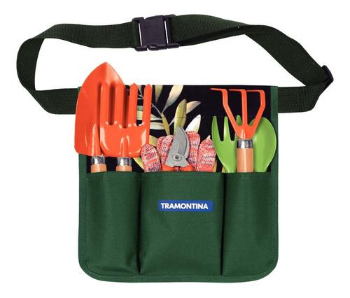 Kit Set Jardineria 8 Piezas Palitas + Cinturon Tramontina