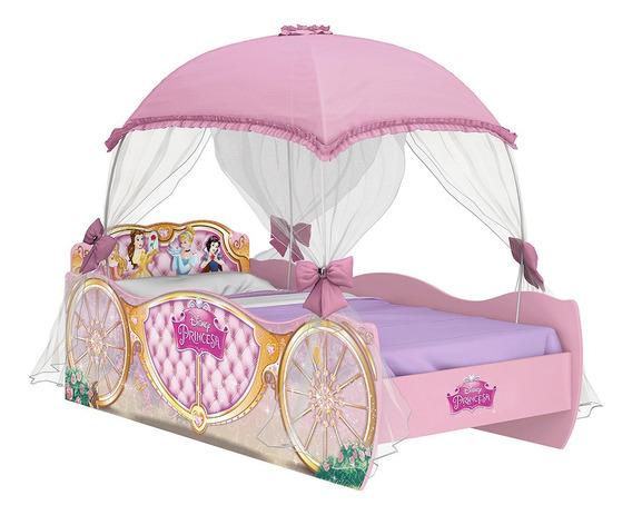 Cama Infantil Princesas Disney Star Com Dossel Pura Magia