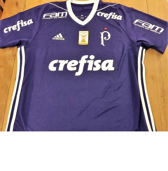 Camisa Palmeiras Usada Jogo 2017 Vinicius #42 Rara