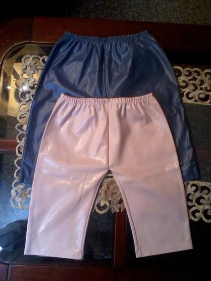Pantalon Fashion De Niña Tela Mojada.talla 12-18 Meses Nuevo