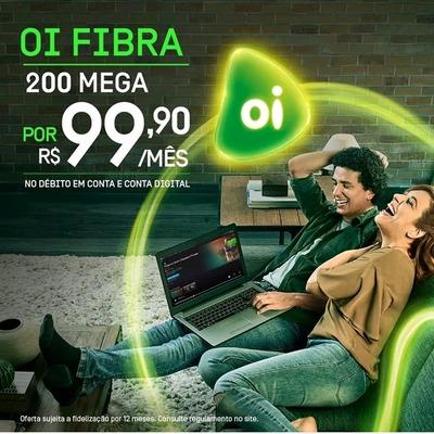 200 Megas Fibra Ótica Mais Planos De Tv