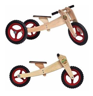 Kit Bicicleta Triciclo Infantil 1-5 Anos Woodbike 3 Em 1