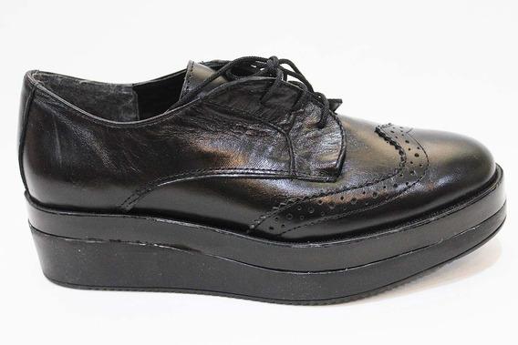 Zapato Bajo Mujer Cuero Cordon Art 20. Marca San Marino
