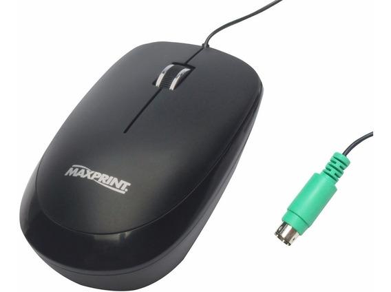 Mouse Óptico 800dpi Conexão Ps/2 Maxprint Leve Ergonomico