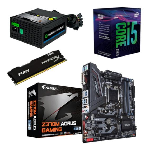Kit Intel I5 8400 + Aorus Z370m + Hx 4gb + Gamemax Gm500
