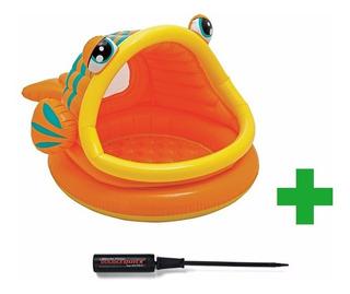 Pileta Inflable Intex Fish Pescadito Para Bebes + Inflador