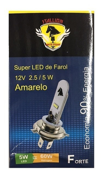 Lampada Farol H4 35x35 Biodo Led Amarela Honda/yamaha Corren