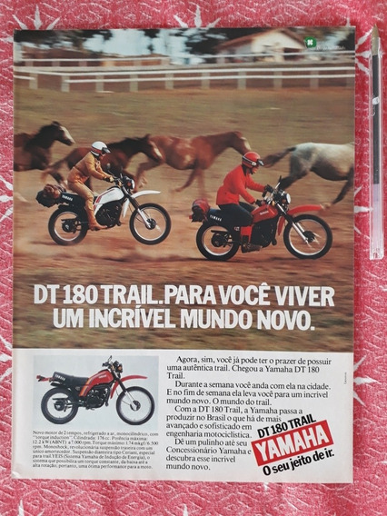 Propaganda Anúncio Publicidade Moto Yamaha Dt 180 Trail 1982
