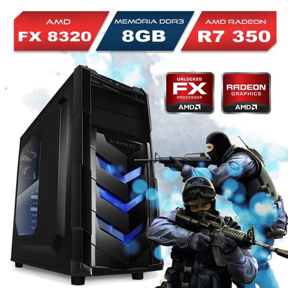 Computador Gamer Vortex V4, Amd Fx, 8gb, R7 350, 240gb