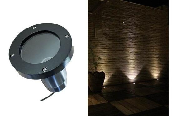 Kit 5 Embutido De Chão Piso Jardim Par20 Luminária Projetor