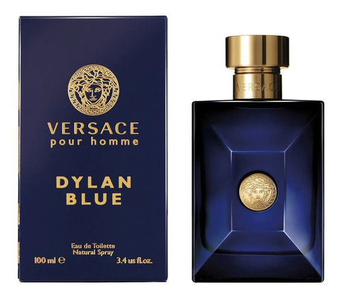 Imagen 1 de 5 de Perfume Versace Dylan Blue Pour Homme Edt 100 Ml