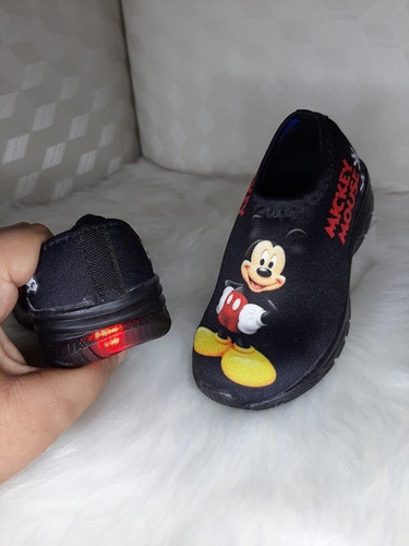 Tênis Mickey Mouse Infantil Com Led Luz Personagem Oferta