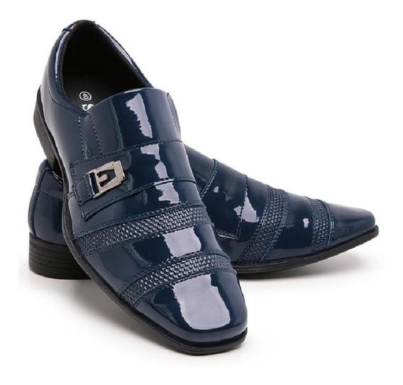 Sapato Masculino Social Brilhoso Uniforme Italiano Luxo 803