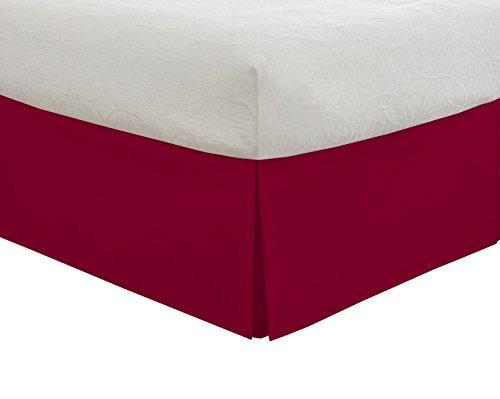 Faldón Para Cama De Microfibra 35.56cm Matrimonial Rojo