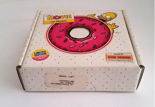 Tk0m Cd Soundtrack The Simpsons Movie Donut Box Lacrado Mercado Livre
