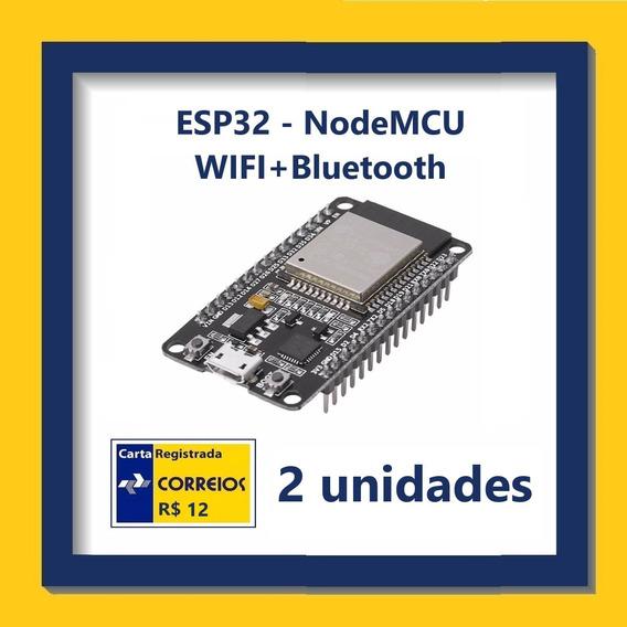 Módulo Nodemcu Esp32 Wifi+bluetooth - Kit Com 2 Unidades