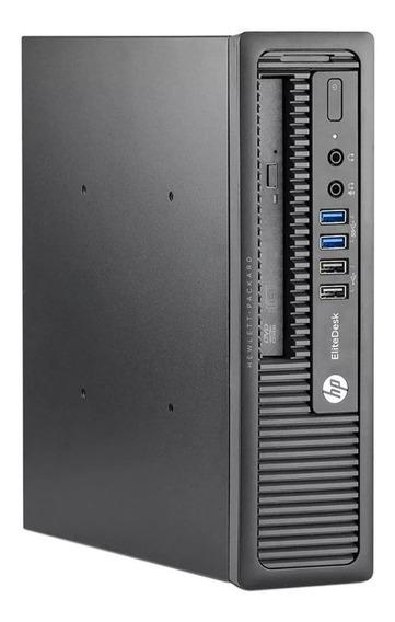 Desktop Hp Elitedesk 800 G1 4gb Hd 500 Core I3 4 Geração