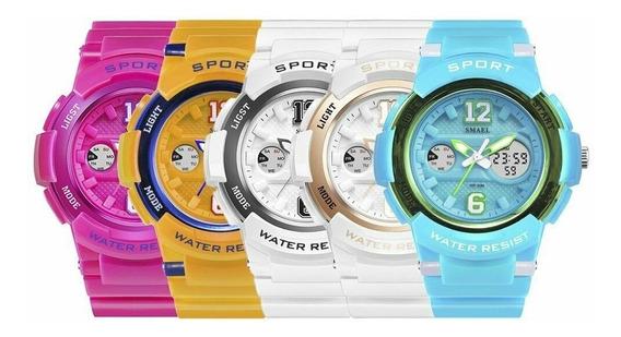 Relógio Smael Sport Femenino Militar À Prova D