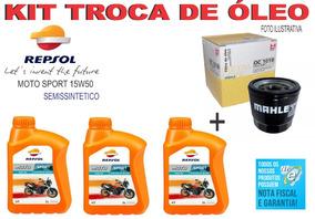 3 Oleo Repsol 15w50 Honda Cbr 600rr E Filtro Oc1019