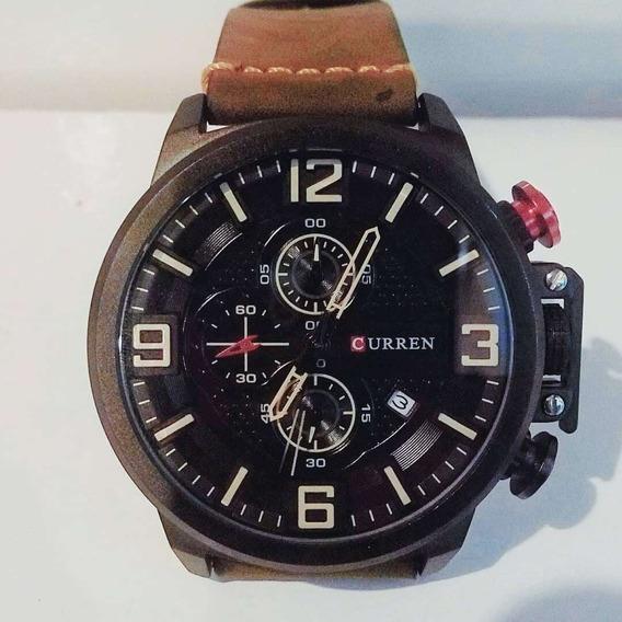 Relógio Masculino Pulseira De Couro-importado Luxo