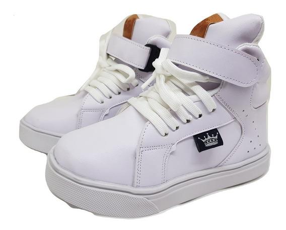 Zapatillas Botitas Blanco Abrojo Nenas/nenes Unixes 19 Al 34