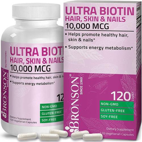 Biotina Premium 10,000 Mcg Con 120 Capsulas