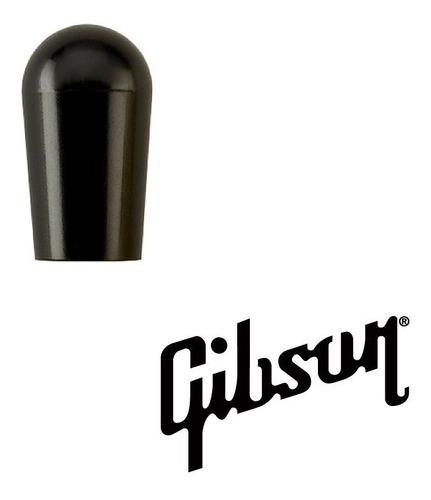 Imagen 1 de 5 de Tapa De Interruptor Palanca Gibson Toggle Switch Cap Negro
