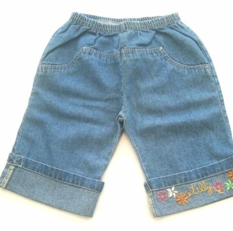 Calça Capri Jeans Bebê By Tilly