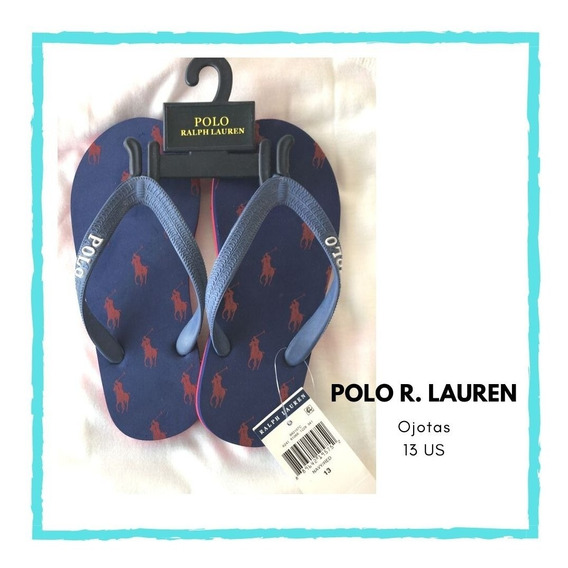 Ojotas Caballo Polo, Numero 13 Us, Polo Ralph Lauren