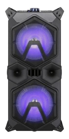 Caixa De Som Bluetooth Fm Usb 220rms Led Sumay Taurus Brinde
