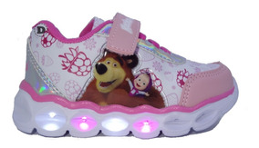 Zapatillas Footy Luz Masha Y Oso Dreams Calzado Caballito