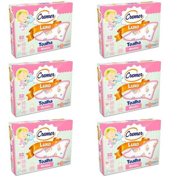 Cremer Luxo Toalha Infantil Estampada Menina C/3 (kit C/06)