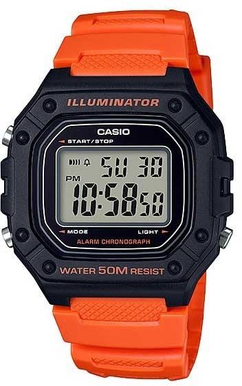 Relógio Casio Unissex Digital W-218h-4b2vdf