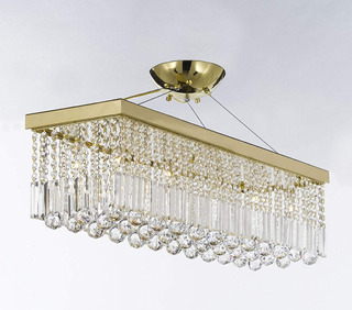Lámpara Candelabro Candil 10 Luces Sala Comedor Rectangular