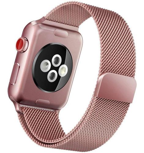Correa Acero Milanese Apple Watch S 1 2 3 4 5 6 Se 44mm 42mm