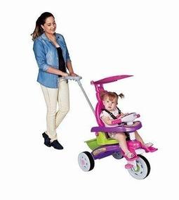 Carrinho Passeio Bebê Fit Trike Rosa 3339 Magic Toys