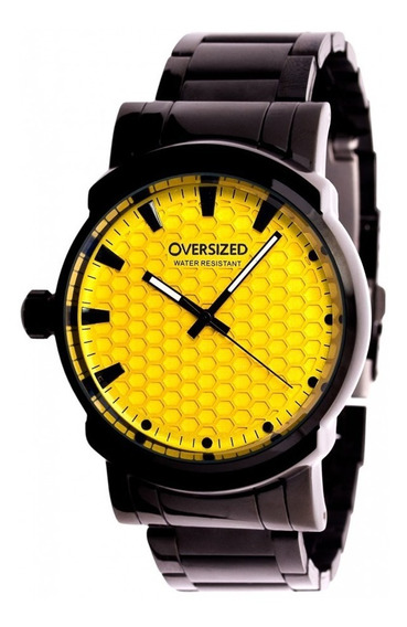 Relógio Masculino Oversized Knockout 45mm Dark-yellow