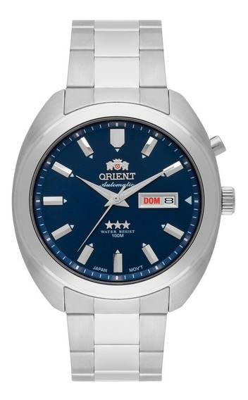 Relógio Masculino Orient 469ss077 D1sx Automático Prata