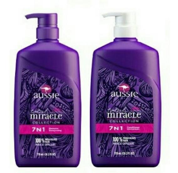 Kit Shampoo Condicionador Aussie 7 Em 1 Miracle 778ml Import
