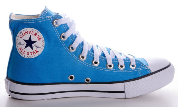 Tênis Converse All Star Ct As Hi Cano Alto Azul Celeste