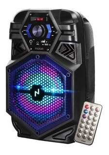 Parlante Portátil Inalámbrico Noga Bt800 Karaoke Led Rgb Bluetooth C/control